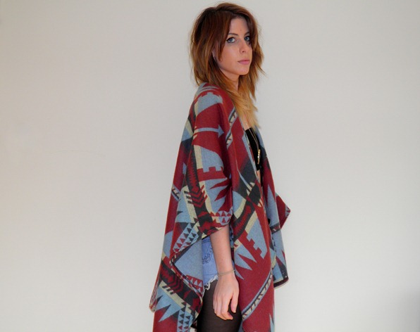 ASOS AZTEC CAPE 3