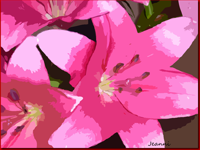 pink lilies png