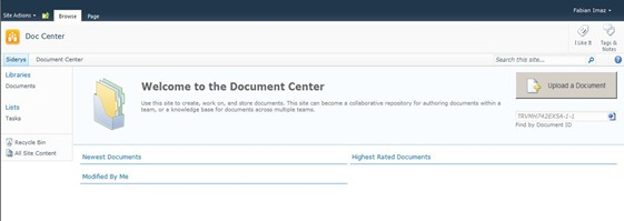 2 Site Document Center Created