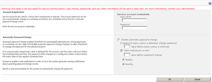3 New managed account sharepoint 2010