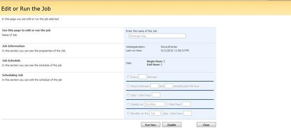 5 Job Configured in SharePoint 2007