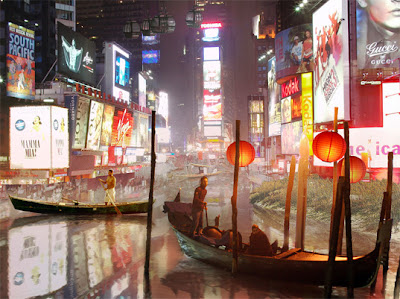 Flooded Times Square