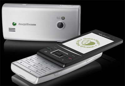 Green phone by Sony Ericsson