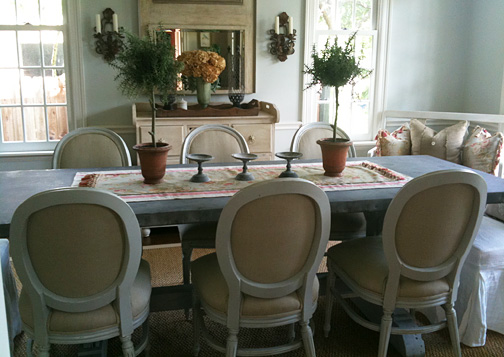 LLH DESIGNS BRAVEHEARTED BEAUTY Zinc Top Dining Table - Zinc dining room table