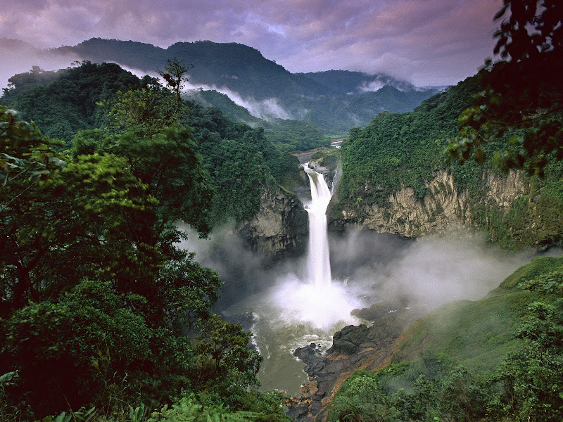 San Rafael Falls, located in the Yasuni National Park - one of the finest places in Ecuador
