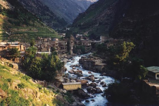 One of the serene mountain villages in Pakistan