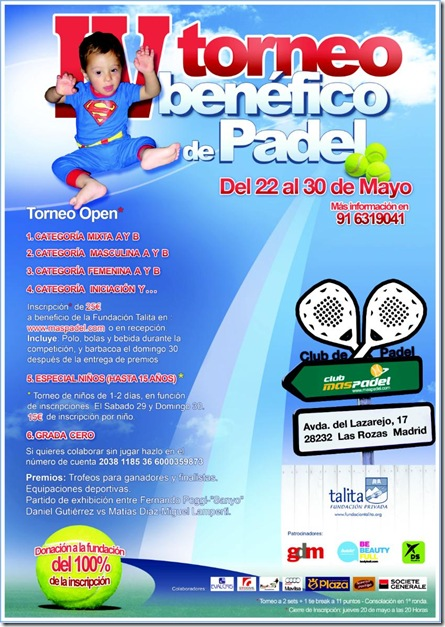 4º Torneo Benefico de Pádel talita Mayo 2010 Club MasPadel