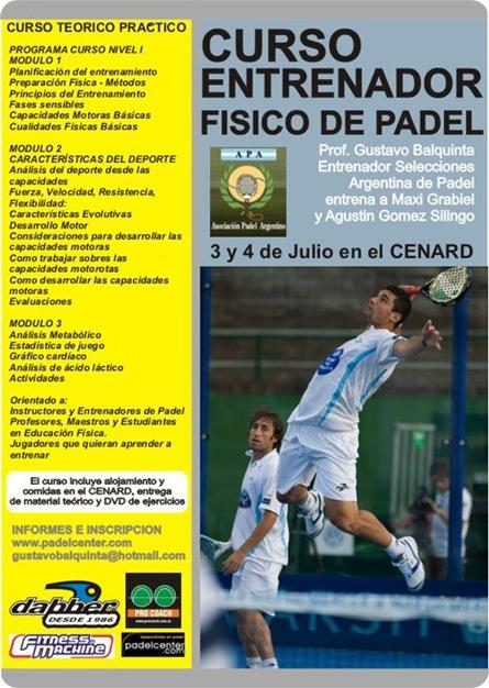 Curso Entrenador Físico de Pádel Argentina Julio 2010