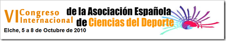 Congreso Internacional Asociacion Española Ciencias del Deporte, Elche, Octubre de 2010