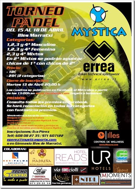 Torneo Pádel MYSTICA en ILLES Marratxi abril del 2010