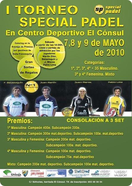 I Torneo Special Pádel Centro El Cónsul mayo de 2010