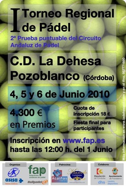 I Torneo Regional de Padel La Dehesa Pozoblanco