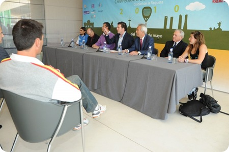 Presentacion Campeonato de España de Padel Ciudad Raqueta Madrid 2010