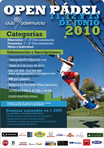 Open de Padel Club Murcia junio de 2010