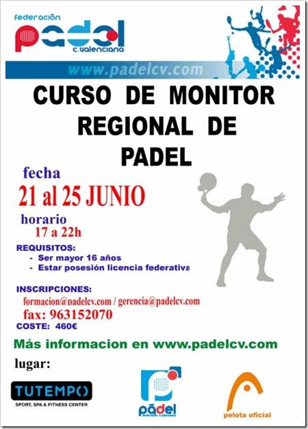 Curso Monitor Regional de Padel Comunidad Valenciana, Junio 2010