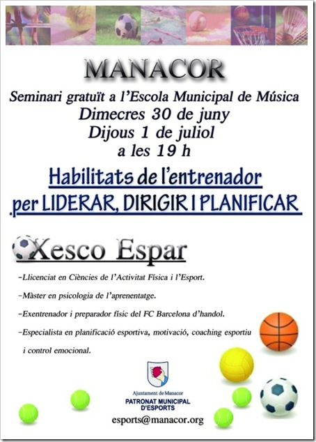 Conferencia XESCO ESPAR EN MANACOR