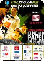 Padel Pro Tour SEAT Madrid Santiago Bernabeu 2010 Cartel