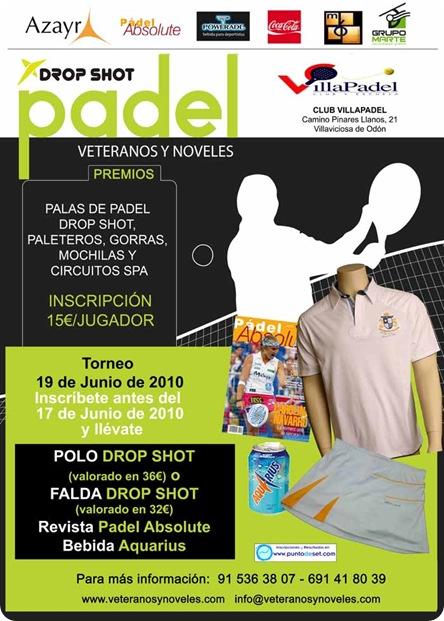 Torneo Veteranos y Noveles VillaPadel Villaviciosa Drop Shot Padel