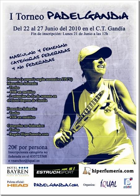I Torneo PadelGandia Junio 2010 C. T. Gandia
