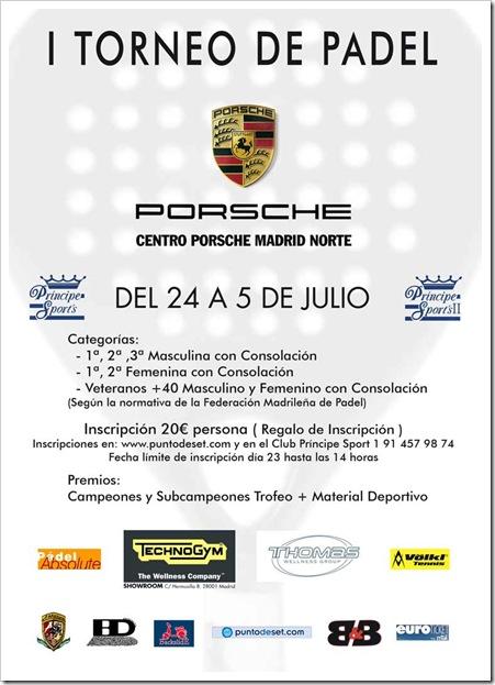 I Torneo de Padel PORSCHE Principe Sports Julio 2010