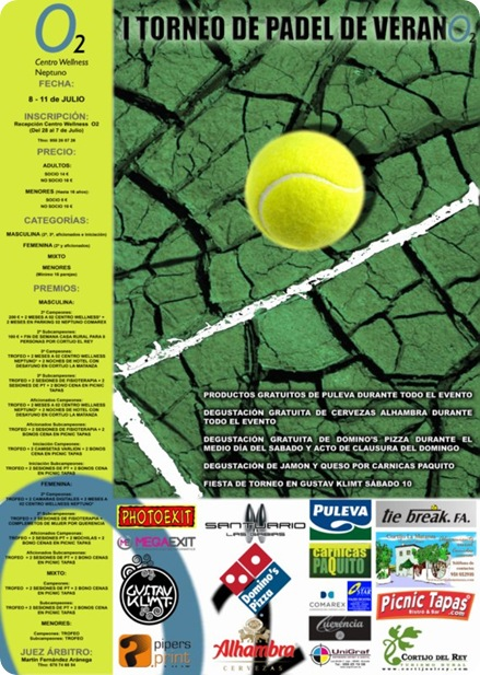 I Torneo Padel Verano Centro Wellness O2 neptuno 2010