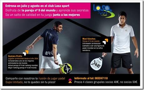 Gustavo Pratto y Maxi Sanchez Clases en Club Laso Sport