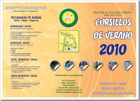 Cursos de Verano Real Club Tenis y Padel ARAVACA Lopez Maeso 2010_1