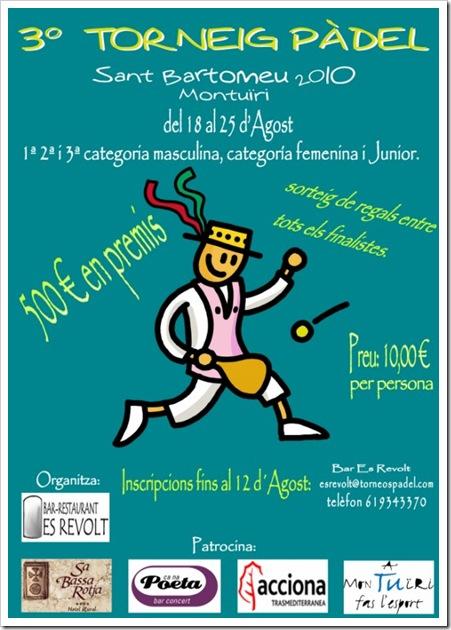 Torneo Padel en Montuiri, Mallorca del 18 al 25 de agosto de 2010
