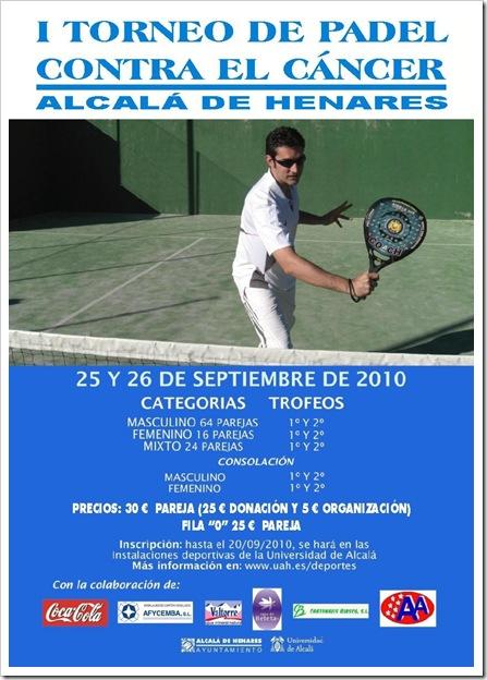 I Torneo de Padel Contra el Cáncer UAH Alcala de Henares