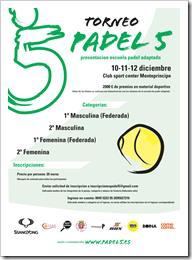Torneo Padel 5 Escuela Padel Adaptado Club Sport Monteprincipe diciembre 2010_0