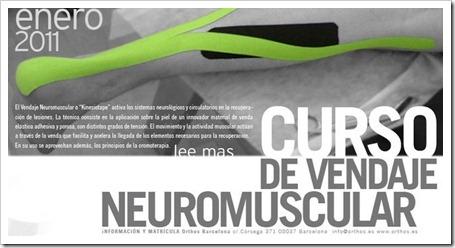Curso Vendaje Neuromuscular o Kinesio taping en barcelona 2011