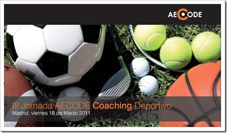 III jornada AECODE coaching deportivo en madrid 2011