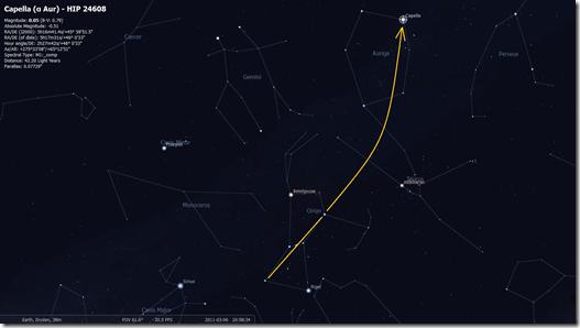 Orion to Auriga (Image by Stellarium http://www.stellarium.org/)