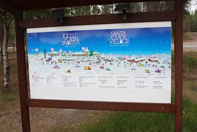 Mapa de accesos de Santa Claus Village