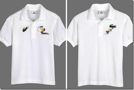 ... os 60 anos da turma de Charlie Brown, a grife francesa Lacoste lançou  uma edição limitada da sua tradicional camisa polo com os personagens do  desenho ... ede2897b71