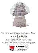 Trio: Camisa, Colete Xadrez e Short