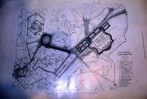 Mapa de monumentos antiguos en Roma.