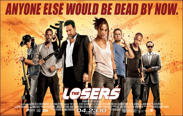 The Losers movie poster entire cast