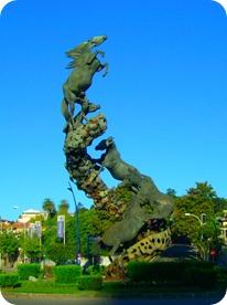 Los Caballos na Plaza de España
