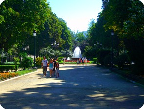 La Alameda: Plaza de Compostela