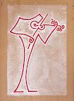 il Violinista - 2 - acrilico su cartone - 23x32 cm - 2007-2009 - proprietà A.B.