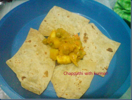 Chappathi with kurma