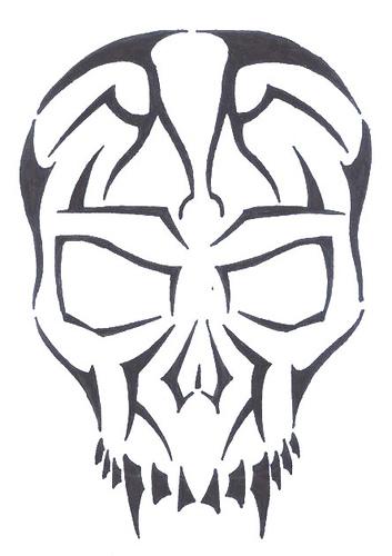 Tribal Skull Polynesian
