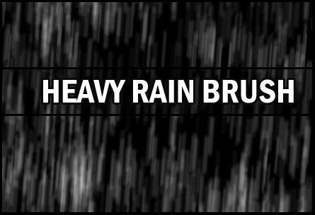 Heavy rain brush