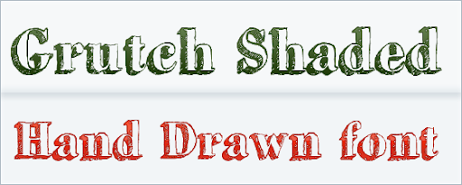 Grutch Shaded - Free Hand Drawn Font