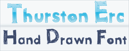 Thurston Erc : Hand Drawn font