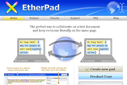Etherpad - MS office Word Alternative