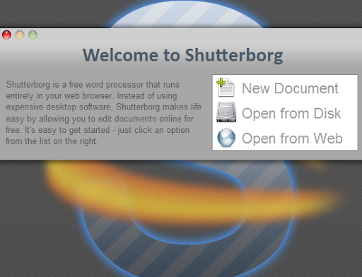 Shutterborg - MS office Word Alternative