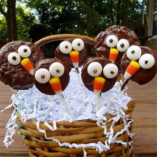 Chocolate Owl (and Baby Owl) Pops