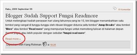 mengganti read more dengan gambar